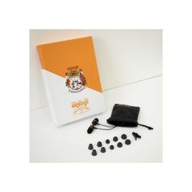 ORANGE EARBUDS - Ecouteur intra-auriculaire, 16 Ohm, noir