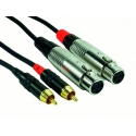 Neutrik Rock Cable XLR F - Cintch  RCSI06FXC Patch CBL 0.6m