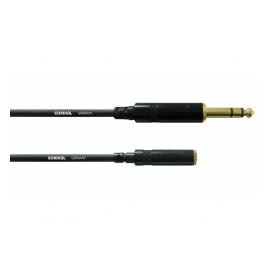 CORDIAL CFM 3 VY câble studio, 3m, Jack 6.3mm - MiniJack f