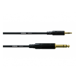 CORDIAL CFM 3 WV Studiokabel, 3m, Jack 6.3mm - Minijack 3.5mm