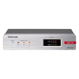 TASCAM MM-2D-E - Audio DSP, Dante, 2 in & 2 out analogiques