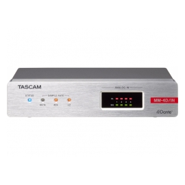 TASCAM MM-4D/IN-E - Audio DSP Dante, 4 In analogiques
