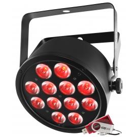 Projecteur 12 LED's 3W RGB / USB
