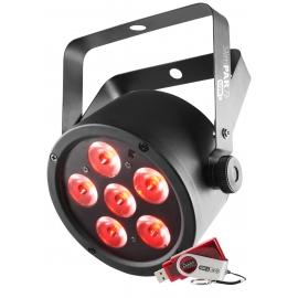 Projecteur 6 LED's 3W RGB