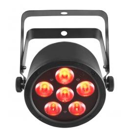 Projecteur 6 LED's 3W RGB Accu
