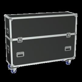 Flightcase 2x Flatscreens 55'' max