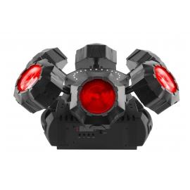 Effet multi-faisceaux RGBW + Strobe + Laser