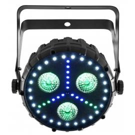Projecteur FX 3 LEDs RGB+UV
