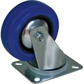 Roulettes mobiles 100mm bleu
