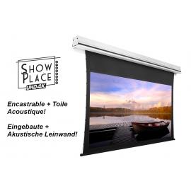 Ecran motorisé UHD encastrable acoustique 16/9 2350x1320