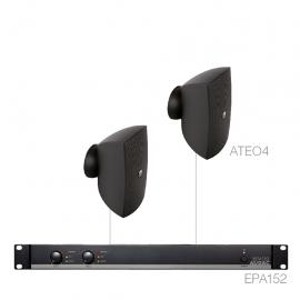 Set 2x ATEO4 + Ampli EPA152 - Noir