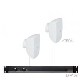 Set 2x ATEO4 + Ampli EPA152 - Blanc