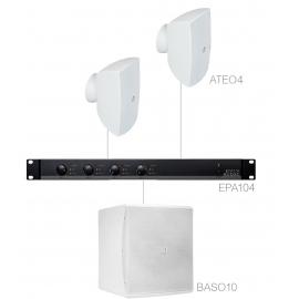 Set 2x ATEO4 + Sub BASO10 + Ampli EPA104 - Blanc