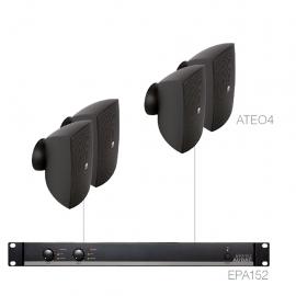 Set 4x ATEO4 + Ampli EPA152 - Noir