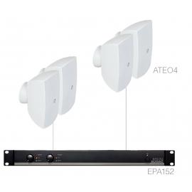 Set 4x ATEO4 + Ampli EPA152 - Blanc