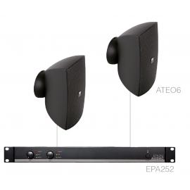 Set 2x ATEO6 + Ampli EPA252 - Noir