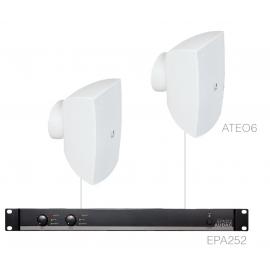 Set 2x ATEO6 + Ampli EPA252 - Blanc