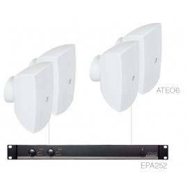 Set 4x ATEO6 + Ampli EPA252 - Blanc
