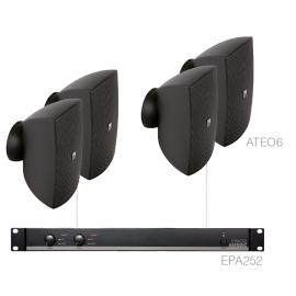 Set 4x ATEO6 + Ampli EPA252 - Noir