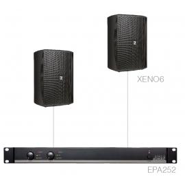 Set 2x XENO6 + Ampli EPA252 - Noir