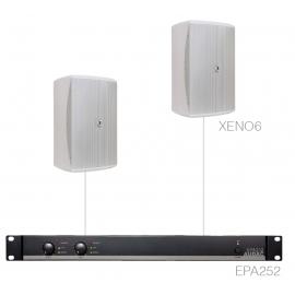 Set 2x XENO6 + Ampli EPA252 - Blanc