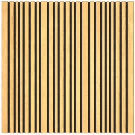 Panneau Absorbeur Bois 60x60 - Marron (6 pièces)