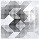 ARTNOVION Panneau Absorbeur Bois perforé 60x60 - Blanc (8 pièces)