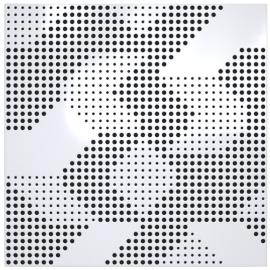 Panneau Absorbeur Bois perforé 60x60 - Blanc (8 pièces)