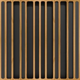 Panneau Diffuseur Bois 60x60 - Marron (4 pièces)