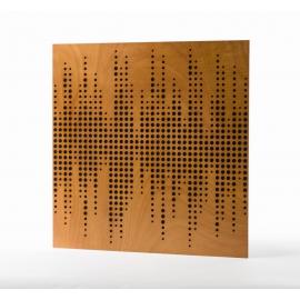 Panneau Absorbeur Bois perforé 60x60 - Marron (8 pièces)