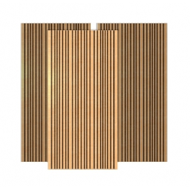 Bass Trap Mural Bois 60x120 - Marron (2 pièces)