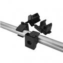 ARTNOVION Kit fixation tubulaire Double en métal (8 tubes)